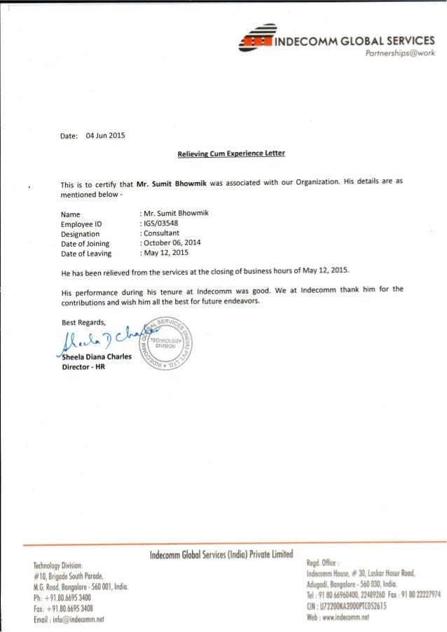 Sister Concern Letter Format