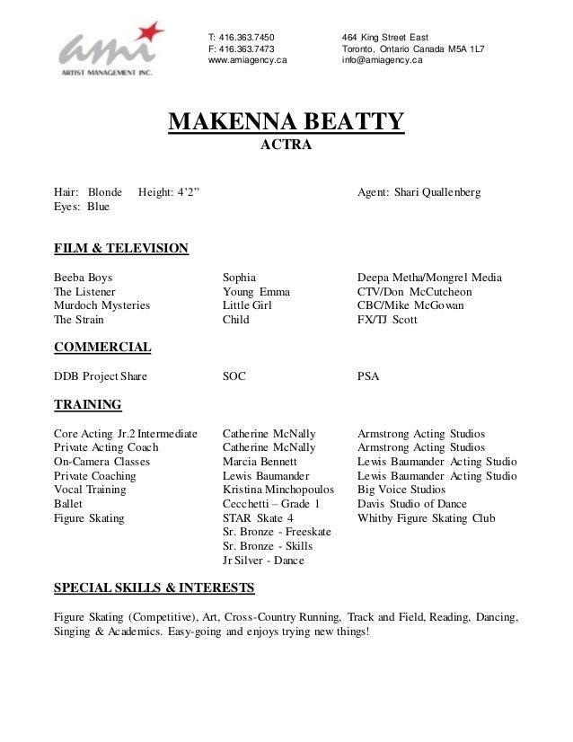 makenna beatty resume- April 2016