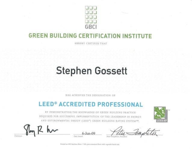 LEED AP Certification USGBC
