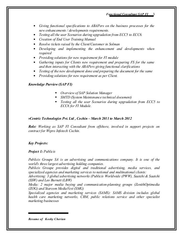sap crm testing resume example resume and