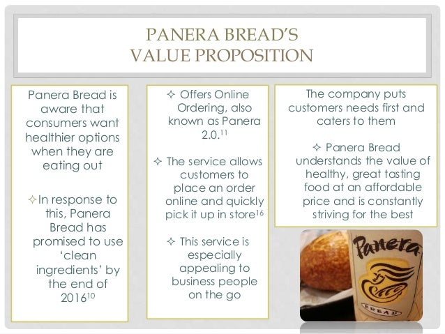 panera bread value chain For 9 of the 12 years, customers rated panera as top on overall satisfaction among large chain restaurants harris poll euitrend rankings named panera bread as casual dining restaurant brand of the year.