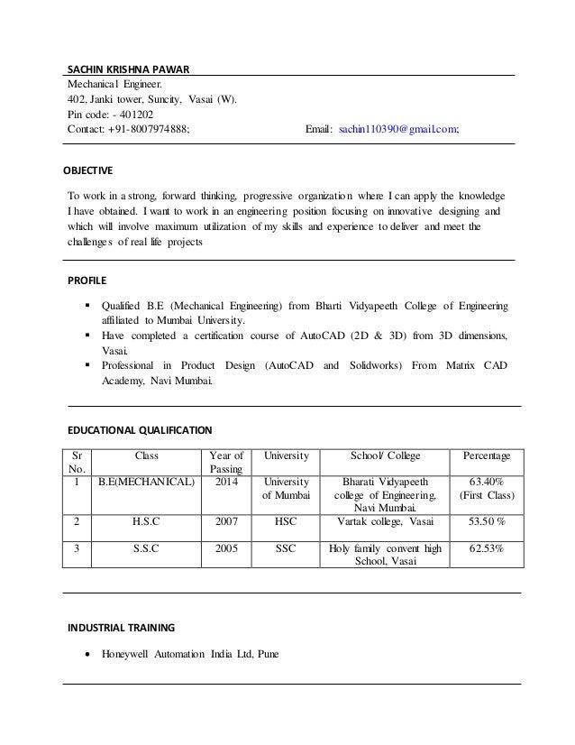resume (Sachin Pawar)