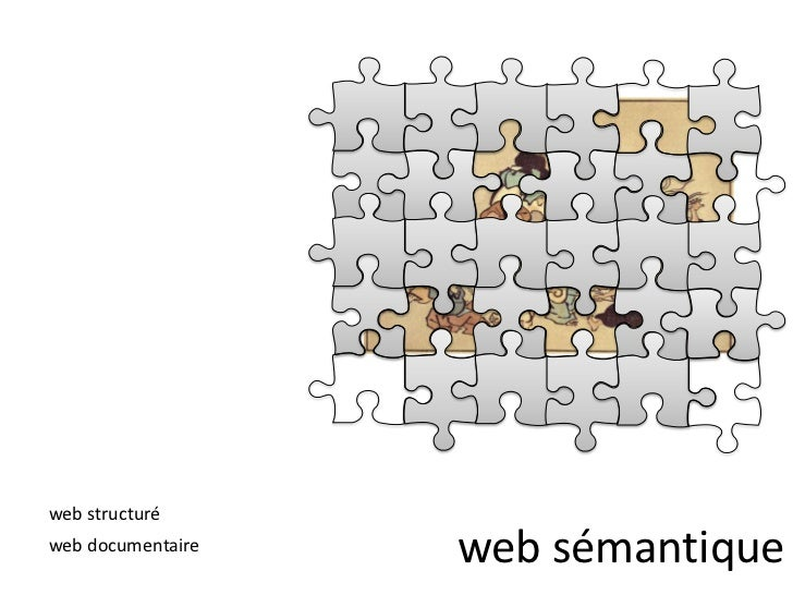 web sémantique<br />web structuré<br />web documentaire<br />