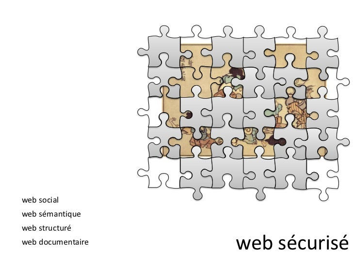 web social<br />web sémantique<br />web sécurisé<br />web structuré<br />web documentaire<br />