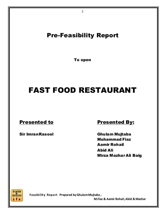 feasibility study for restaurant manpower requirement A restaurant is simply a place to have and project cost as per your requirement cost and revenue, pre-feasibility study for profitable.