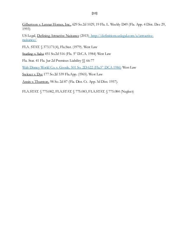 [10] Gilbertson v. Lennar Homes, Inc., 629 So.2d 1029, 19 Fla. L. Weekly D49 (Fla. App. 4 Dist. Dec 29, 1993) US Legal, De...