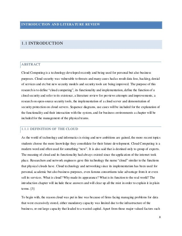 cloud literature review A literature review: cloud computing energy aspects research and reports  enida sheme 1, neki frasheri 2 1,2 department of computer engineering,.