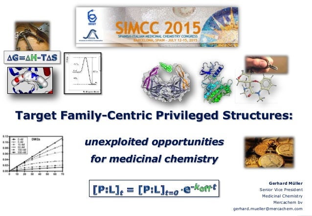 Target Family-Centric Privileged Structures: unexploited opportunities for medicinal chemistry Gerhard Müller Senior Vice ...