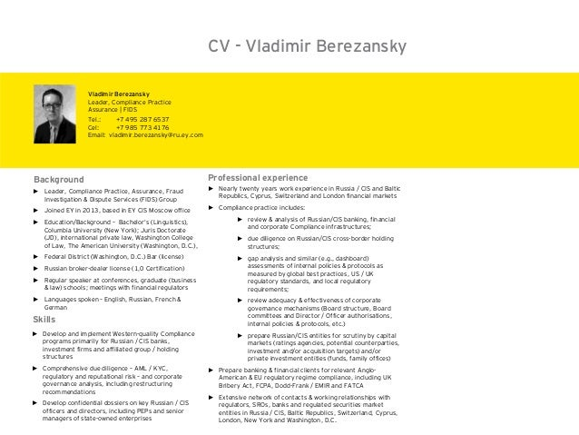 ► Leader, Compliance Practice, Assurance, Fraud Investigation & Dispute Services (FIDS) Group ► Joined EY in 2013, based i...