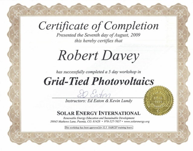 Sei Certificates Of Completion Rdavey