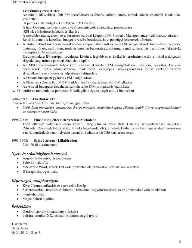 önéletrajz személyes tulajdonságok BeresJanos_ HUN CV önéletrajz személyes tulajdonságok