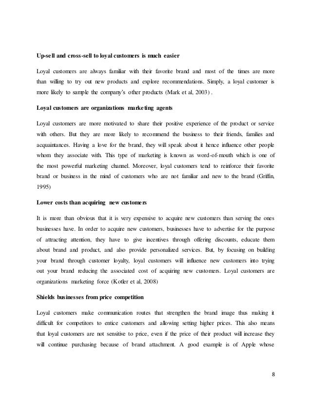Essay about customer loyalty
