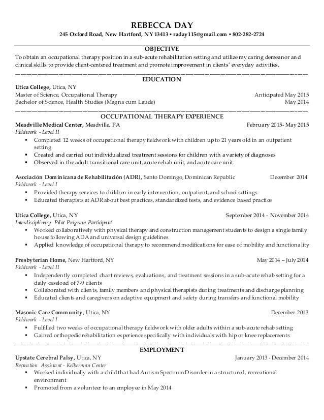 Day, Rebecca Resume General
