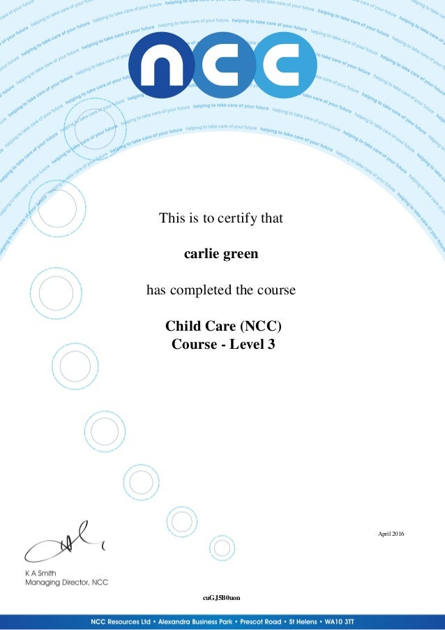 child care (ncc)_child care certificate download
