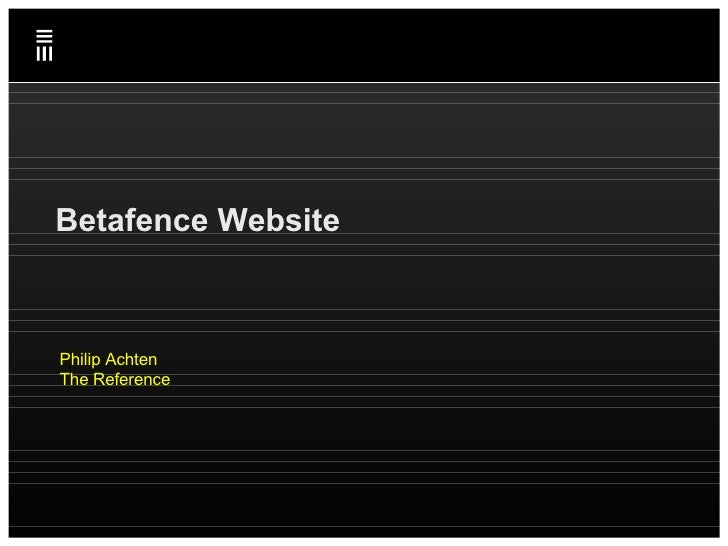 Betafence Website Philip Achten The Reference