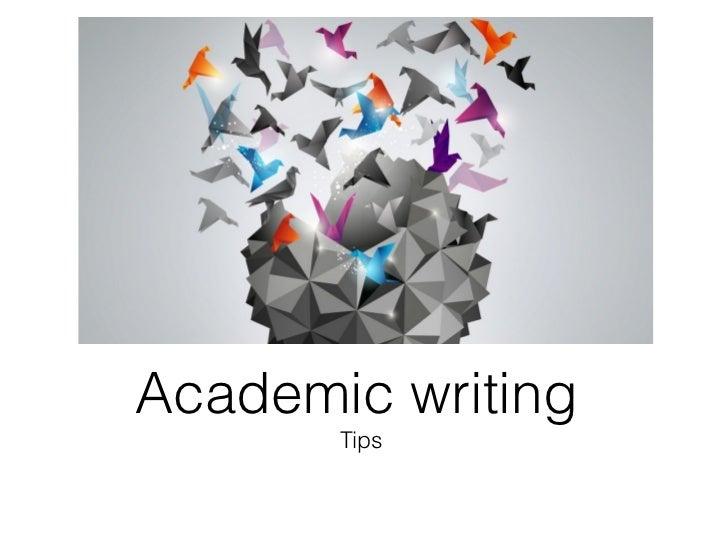 Academic writing       Tips