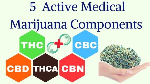 THC CBD THCA CBN CBC 5 Active Medical Marijuana Components