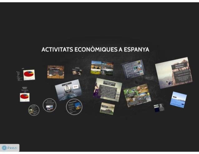 5 activitats econòmiques a espanya ines i brenda