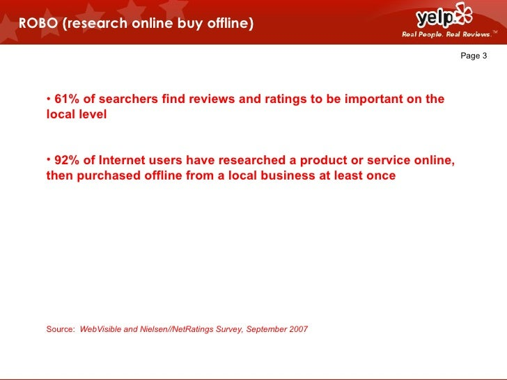 """""""Managing User-Generated Reviews"""" - Jed Nachman (Yelp) - 2009 AIM Conference Slide 3"""