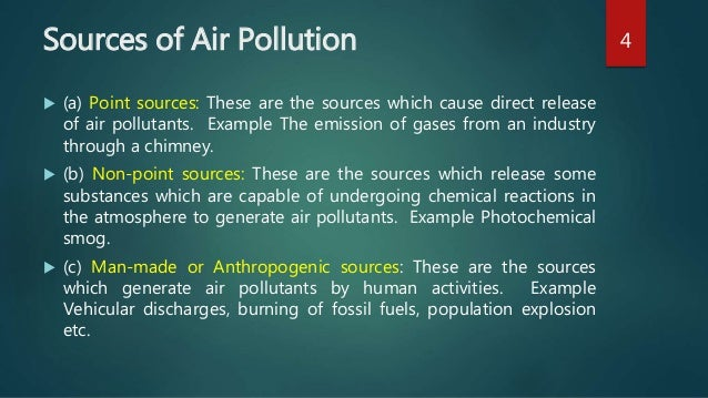 examples of anthropogenic pollutants Define anthropogenic: recent examples of anthropogenic from the web anthropogenic sources of pollution learn more about anthropogenic.