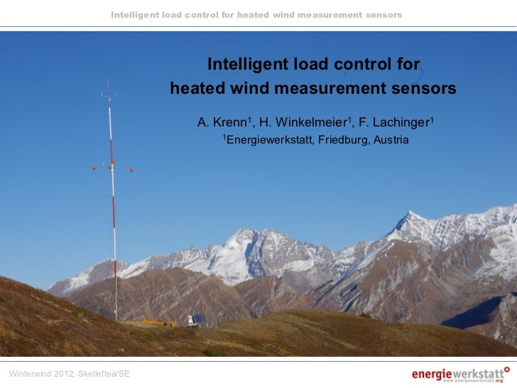 Intelligent load control for heated wind measurement sensors                                         Intelligent load cont...