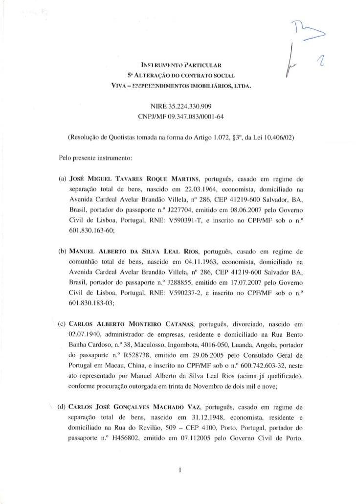 5º alteração contratual viva
