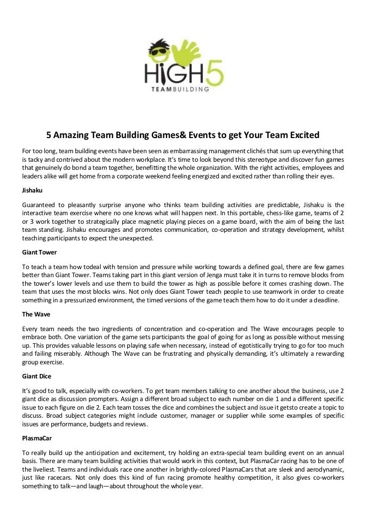 Amazing Team Building Games And Events To Get Your Team Excited  Amazing Team Building Games Events To Get Your Team Excitedfor Too Long  Team Building