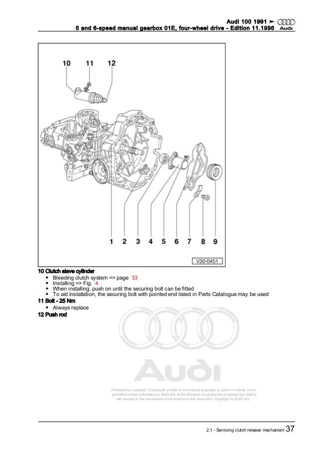 AUDI 5 and 6 speed manual gearbox 01 e, four-wheel drive