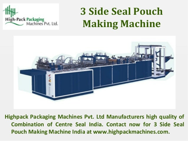 5 And 6 Side Seal Pouch Making Machine