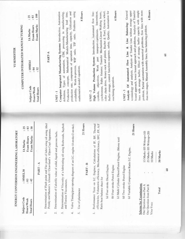 5th and 6th Semester Mechanical Engineering (2010 scheme