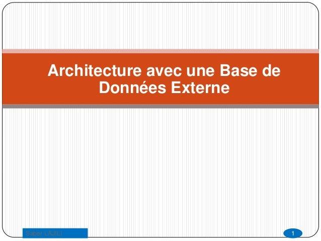 Architecture avec une Base de Données Externe 1Saber LAJILI