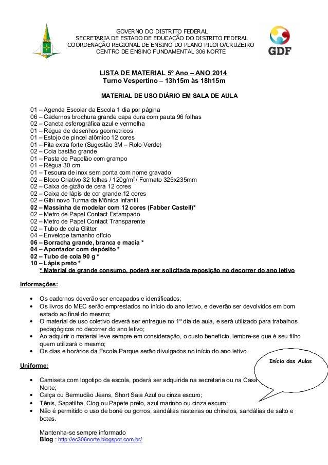 GOVERNO DO DISTRITO FEDERAL SECRETARIA DE ESTADO DE EDUCAÇÃO DO DISTRITO FEDERAL COORDENAÇÃO REGIONAL DE ENSINO DO PLANO P...