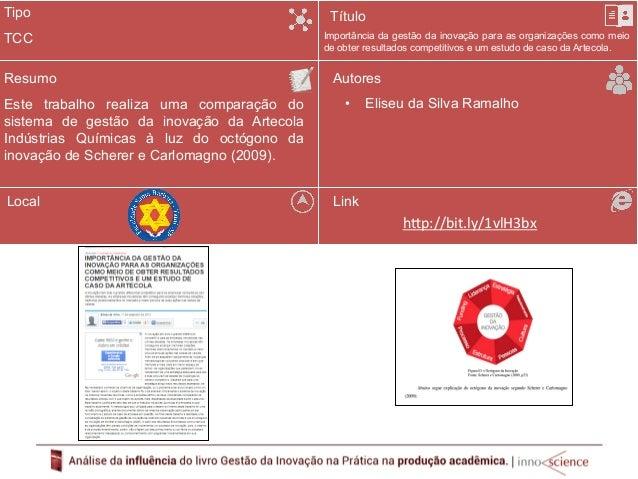 Tipo  Resumo  Para analisar a implementação do Projeto de Inovação  na Indústria de Plásticos HERC foi utilizado o  Assess...