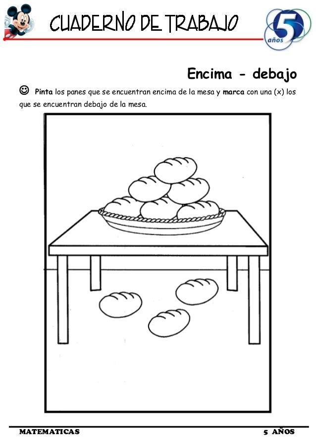 Cuaderno de Trabajo I - 5 Años Matematica
