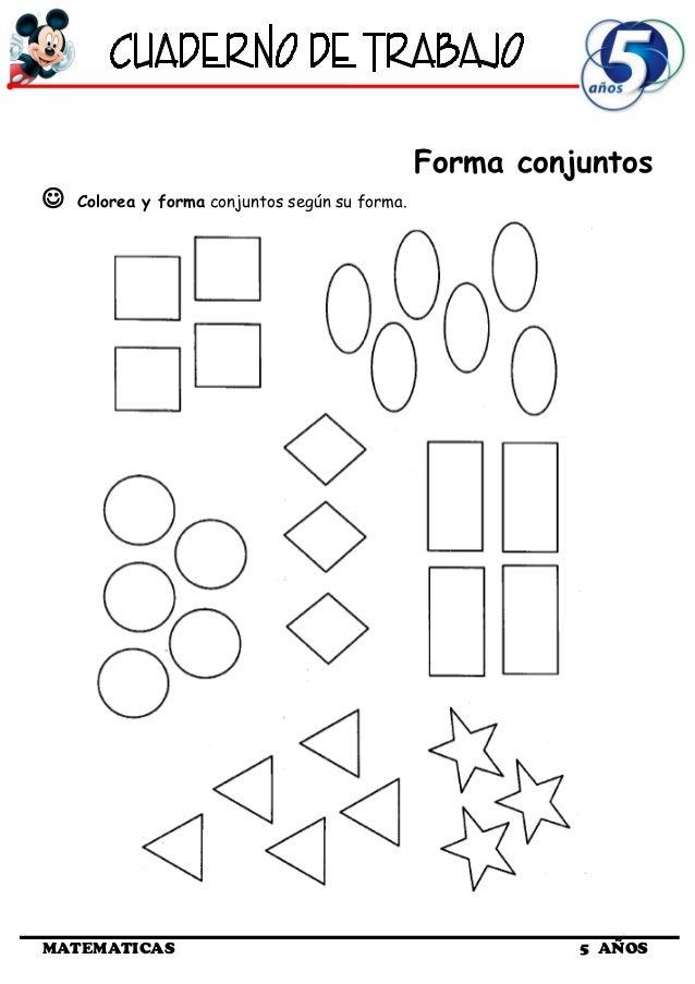 Cuaderno de Trabajo II - 5 Años Matematica