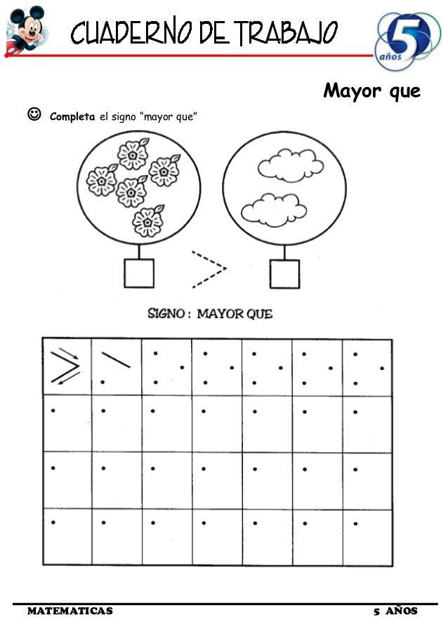 Cuaderno de Trabajo III - 5 Años Matematica