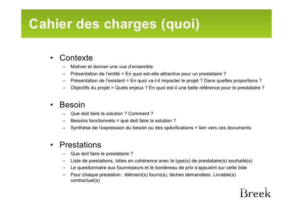 Cahier Des Charges Plan : 5 appel d offres et cahier des charges ~ Premium-room.com Idées de Décoration