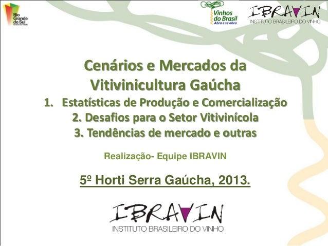 Cenários e Mercados da Vitivinicultura Gaúcha 1. Estatísticas de Produção e Comercialização 2. Desafios para o Setor Vitiv...