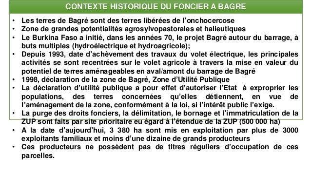Les enjeux de la mise à jour de la situation foncière et les nouveaux outils proposés : plaine de Bagré Slide 2