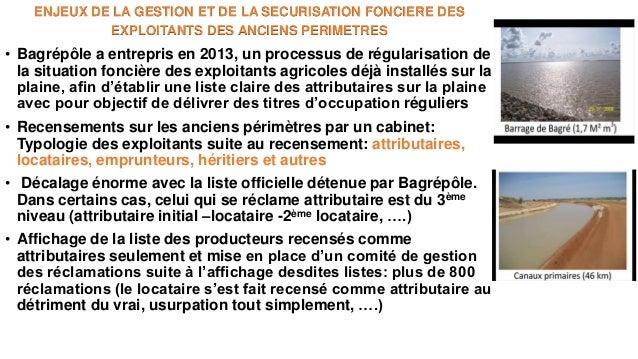 Les enjeux de la mise à jour de la situation foncière et les nouveaux outils proposés : plaine de Bagré Slide 3