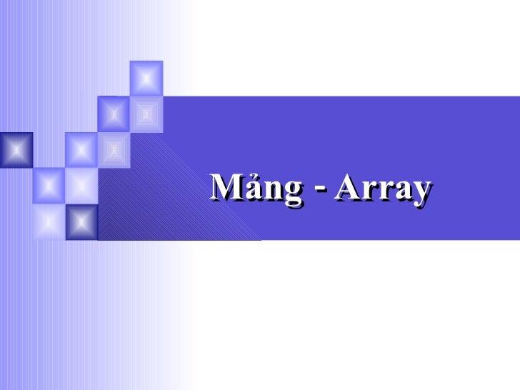Mảng - Array