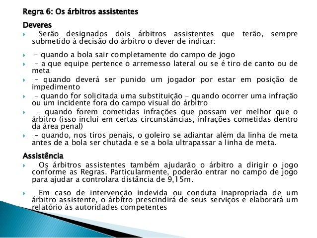 ed668f73490fd 5ª aula de futebol regras