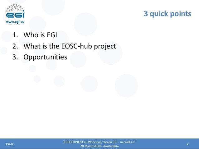 EGI and EOSC-hub Digital Innovation Hub Slide 2