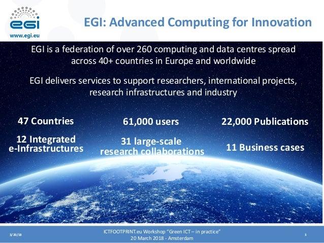 EGI and EOSC-hub Digital Innovation Hub Slide 3