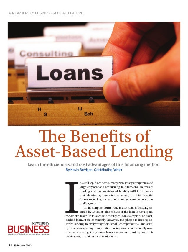 44 February 2013 A New Jersey Business Special Feature Learn the efficiencies and cost advantages of this financing method...