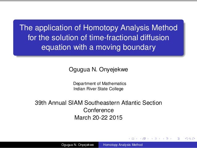 The application of Homotopy Analysis Method for the solution of time-fractional diffusion equation with a moving boundary ...