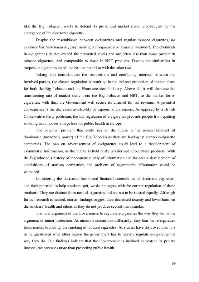 Argumentative essay introduction about smoking