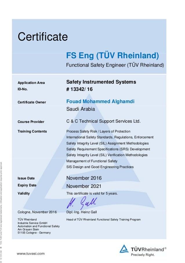 fs engineer  t u00dcv rheinland  certificate   13342
