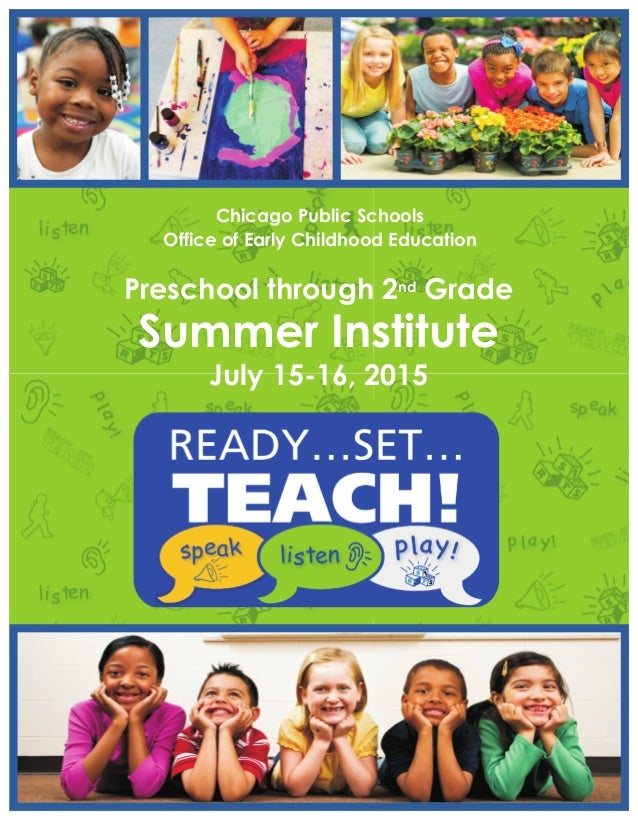 Ready Set Teach Summer Institute Program Book 2015