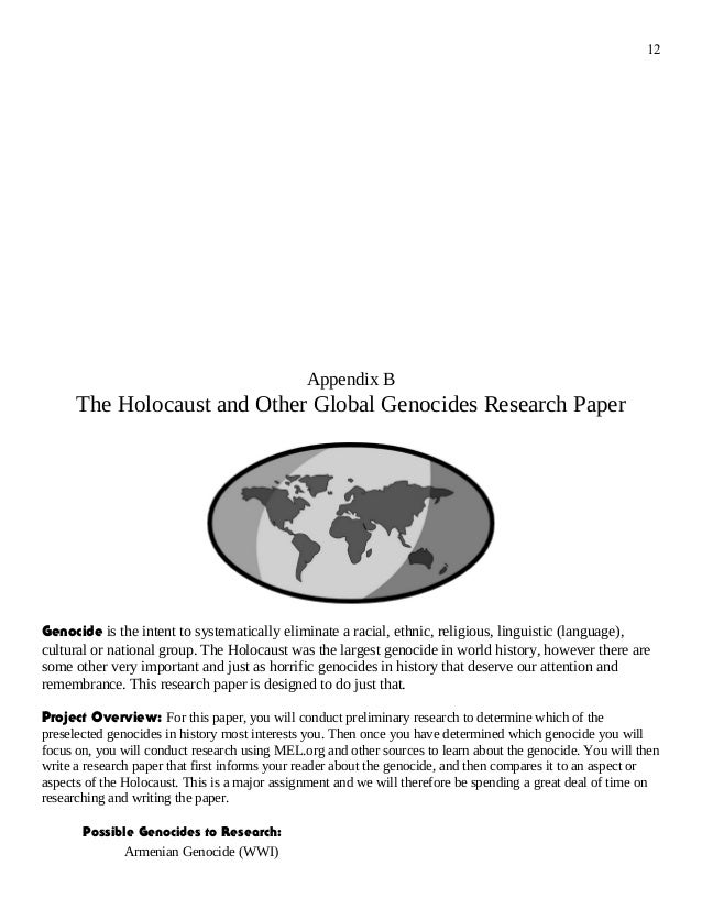 research essay on the holocaust Holocaust essay a changed world: the long term impact of the holocaust throughout history there are many of what we term 'watershed events.